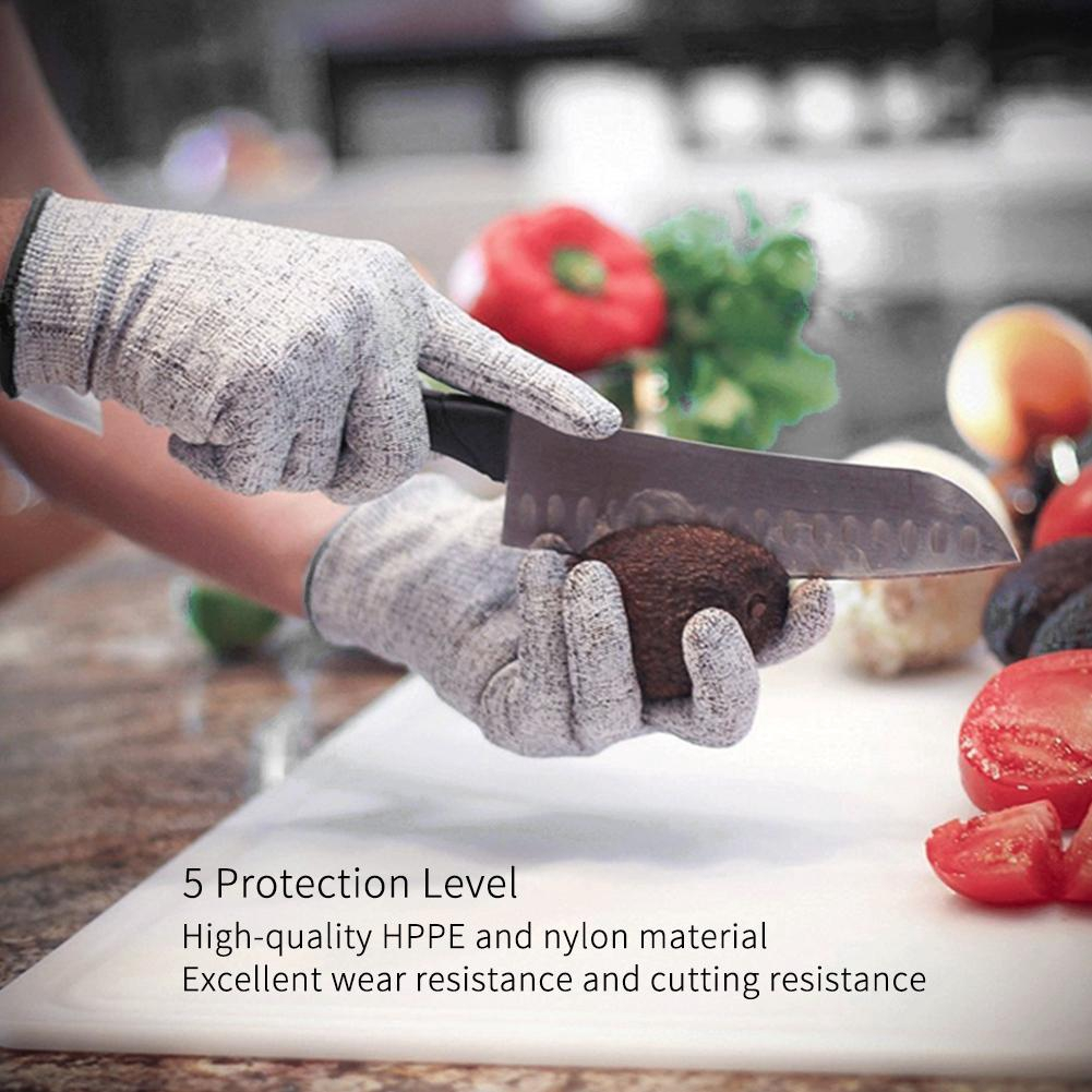S M L Xl Food Grade Cut Proof Gloves Level 5 Protection