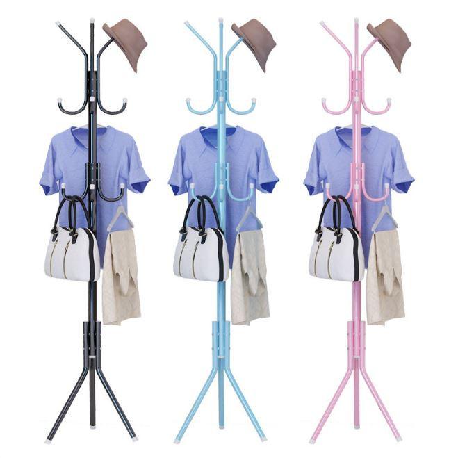 European Coat Metal Hanger Rack - 12 Hooks