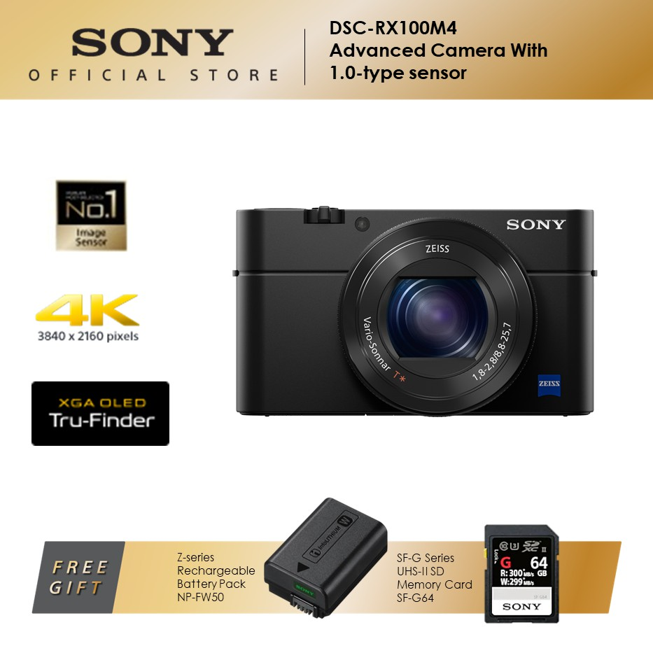 Sony DSC-RX100M4 with 1.0-Type Stacked CMOS Sensor