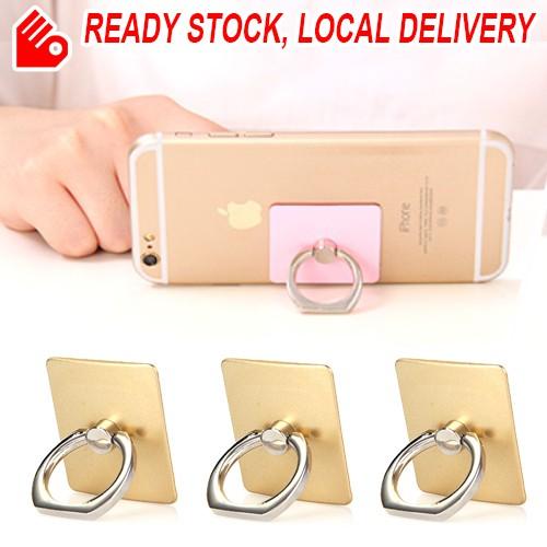 Metal Finger Ring Phone Holder Universal 360 DegreePhone Bracket Rectangle Gold