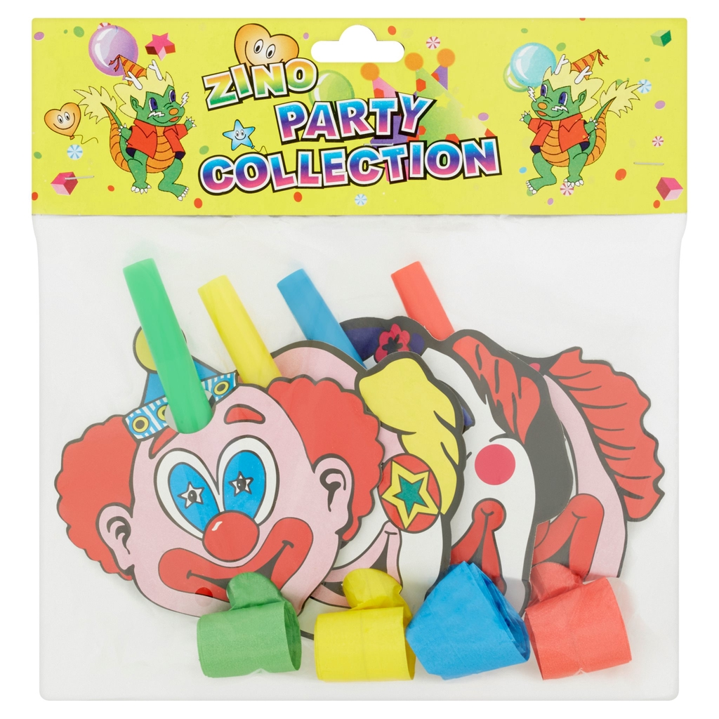 Zino Party Collection Clown Blow Out 4Pcs