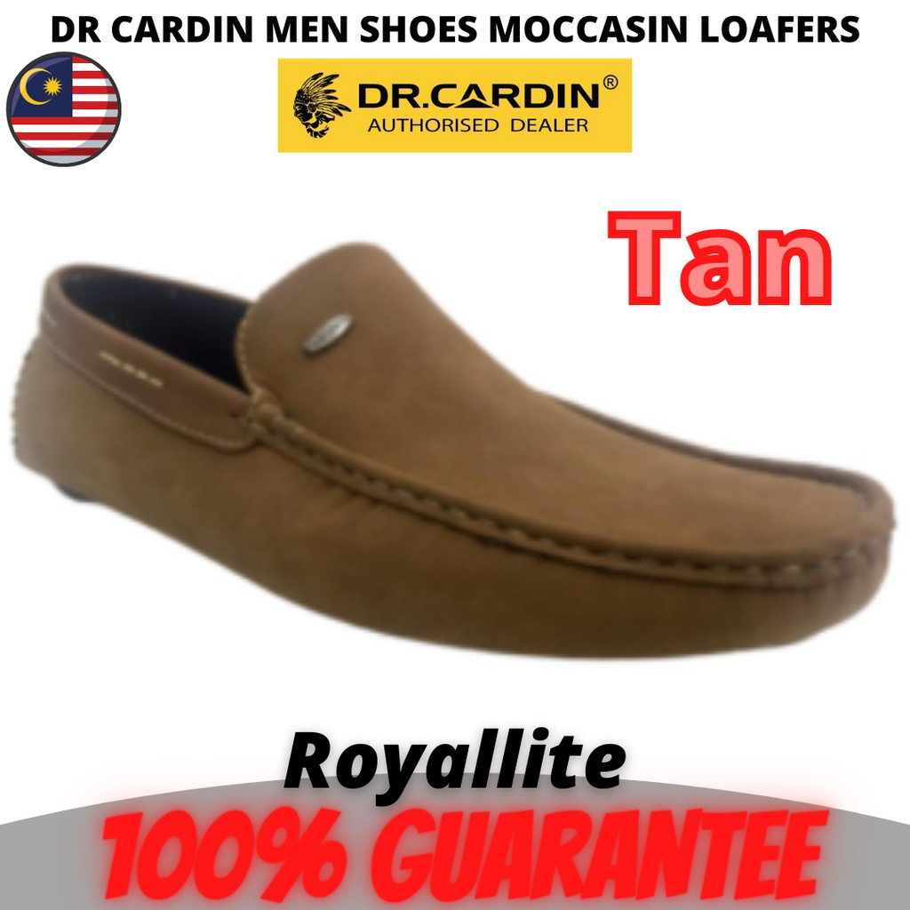 DR CARDIN MEN SHOES MOCCASIN LOAFERS (MAI-60070) Tan & Coffee