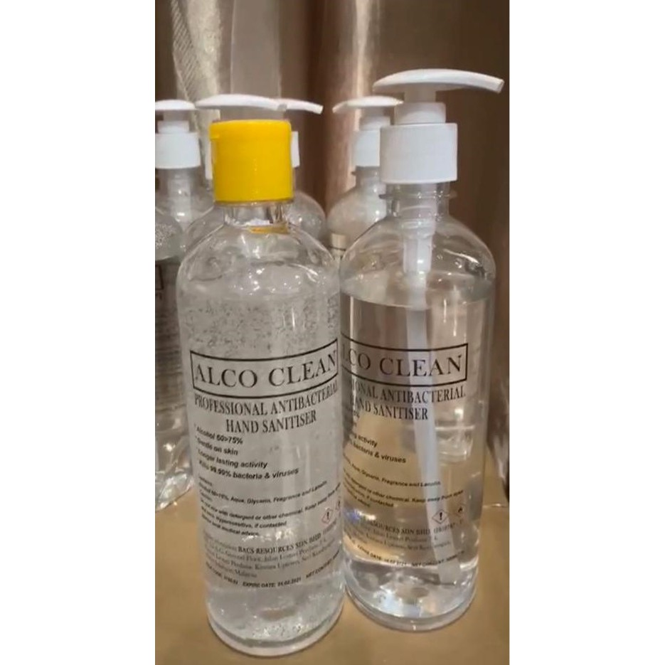 (READY STOCK)ALCO CLEAN PROFESSIONAL ANTIBACTERIAL HAND SANITIZER- 60>75% ALCOHOL BASED