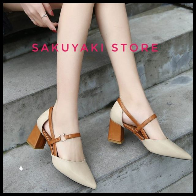 caff45c5bb ❤ Tops Women High Heel Beige Ladies Shoes 6.5 Cm Sz 35-39 -PRE ORDER ❤ |  Shopee Malaysia