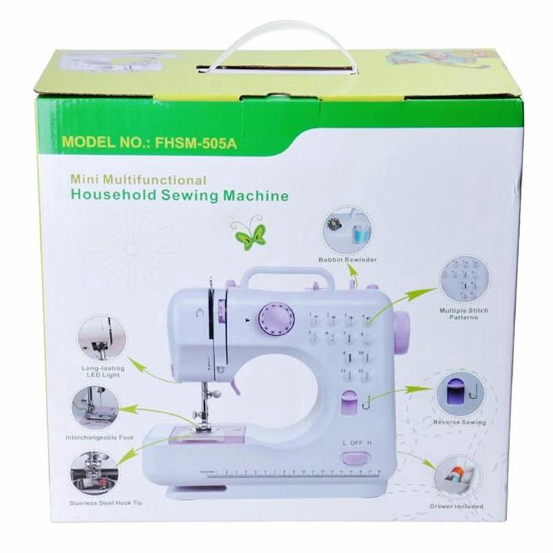 505A Pro Upgraded 12 Sewing Options Mini Portable Handheld Sewing Machine Foot Pedal MultiFunction Automatic Light House