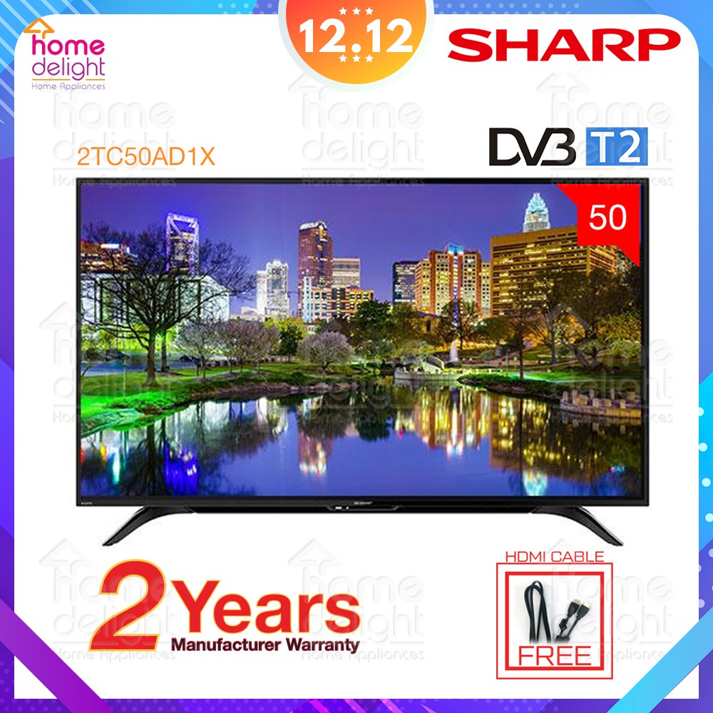 "Sharp 2TC50AD1X FHD Basic LED TV 50"" with Digital Tuner"