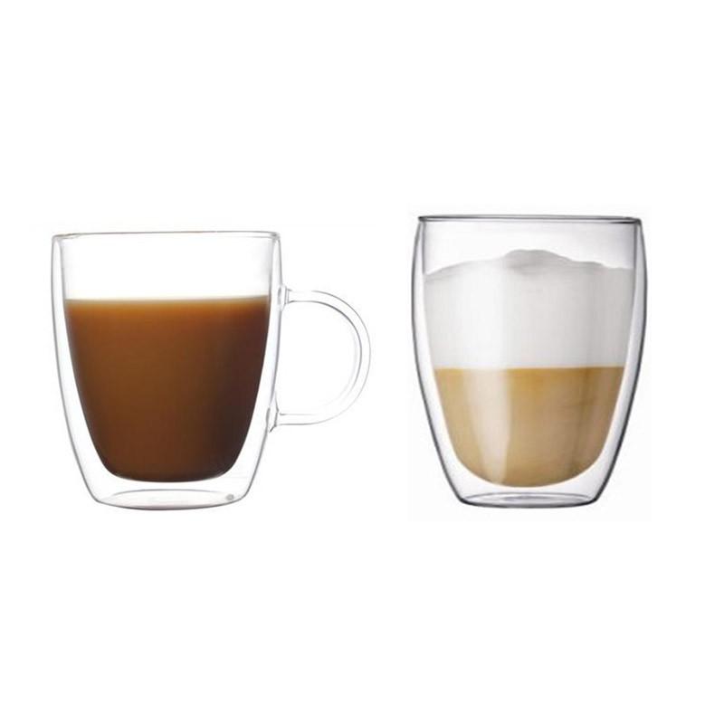 Coffee Mug with Handle + Double layer Glass Mug - Local Seller Ready Stock