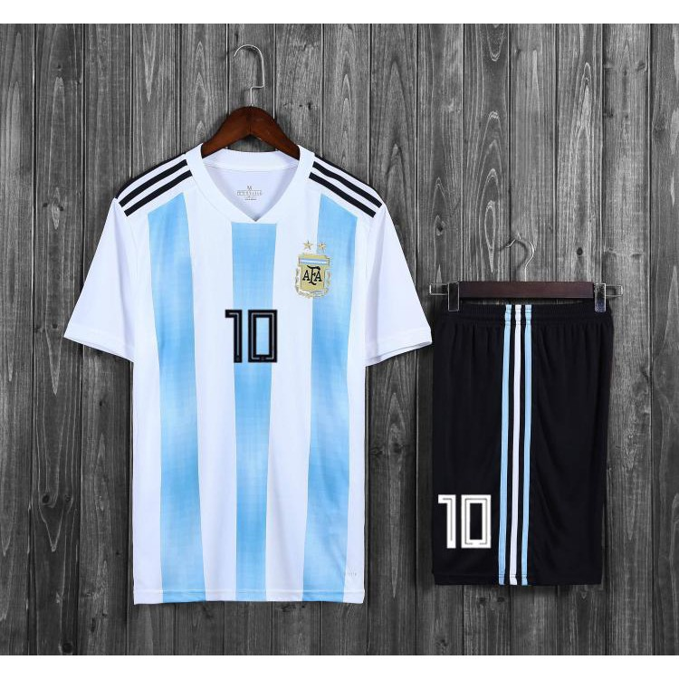 san francisco 8eebb fe3b8 TOP QUALITY 2018 World Cup Argentina National Team Messi Jersey Soccer  suit+pants