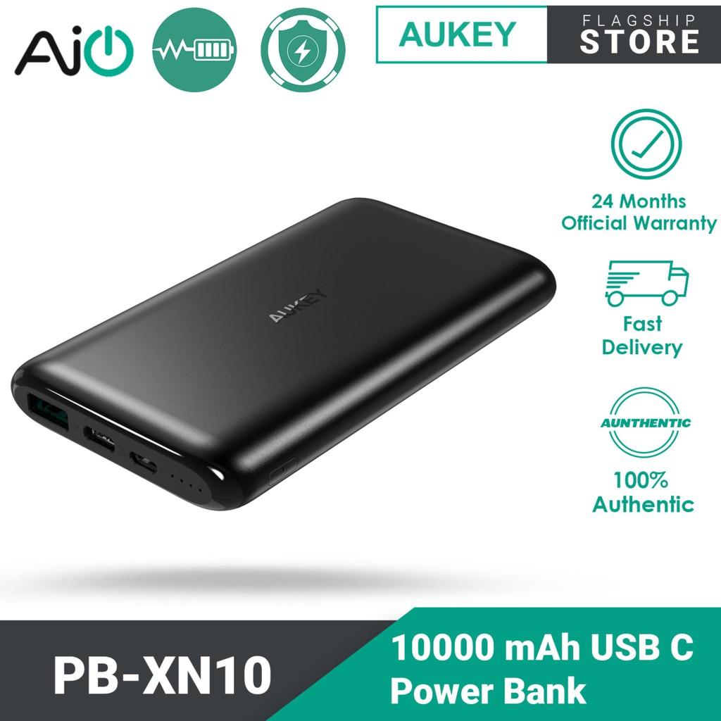 Aukey PB-XN10 USB-C Power Bank (10000mAh) (Black)