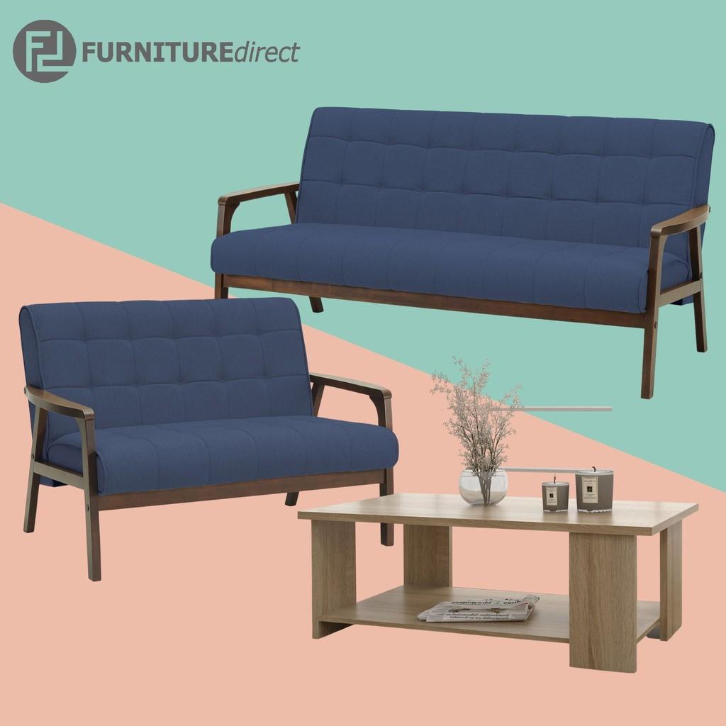 TUCSON 2+3 sofa set with free coffee table/ sofa set/ sofa murah/ sofa kayu
