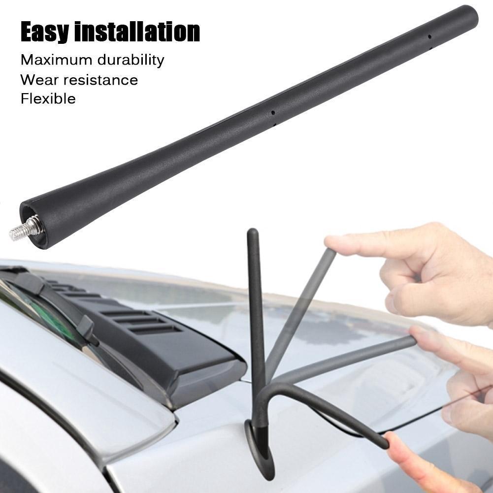 4 7inches Universal Car Antenna Carbon Fiber Radio FM Antena