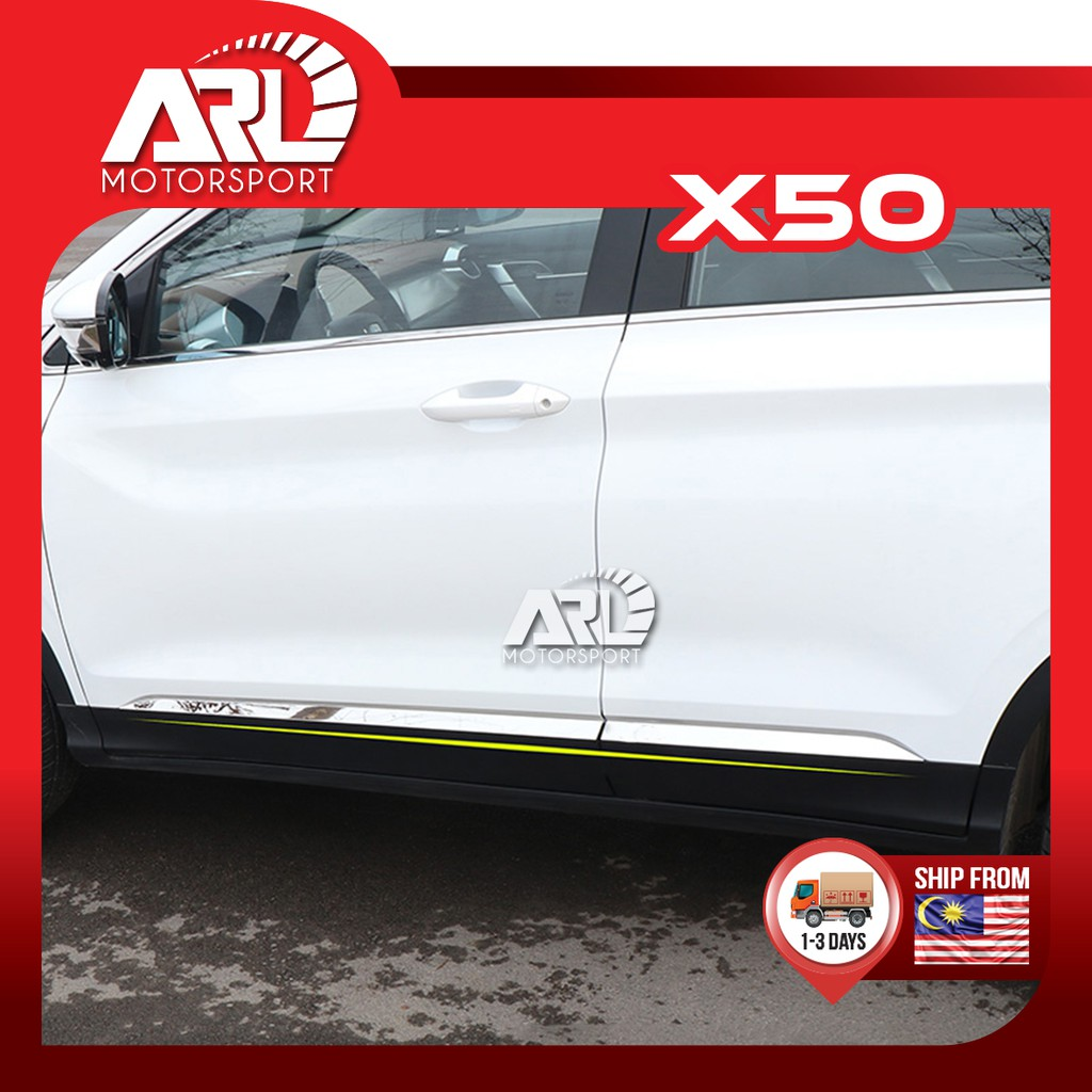 Proton X50 2020 2021 Door Chrome Moulding Lining Car Auto Accessories ARL Motorsport