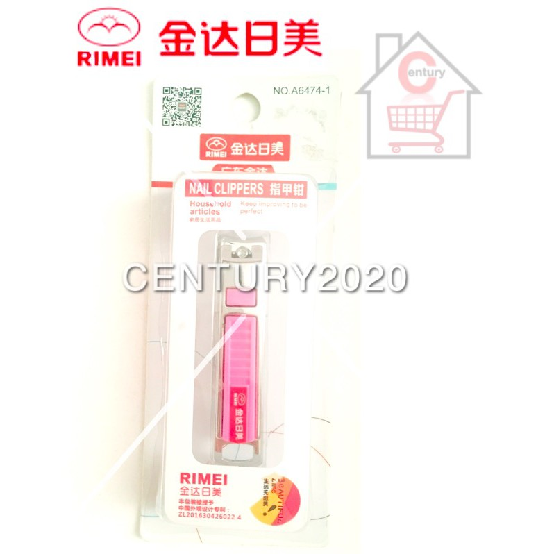 RIMEI Nail Clipper Manicure Care Nail Cutter High Grade Stainless Steel Nail Cutter A6474-1