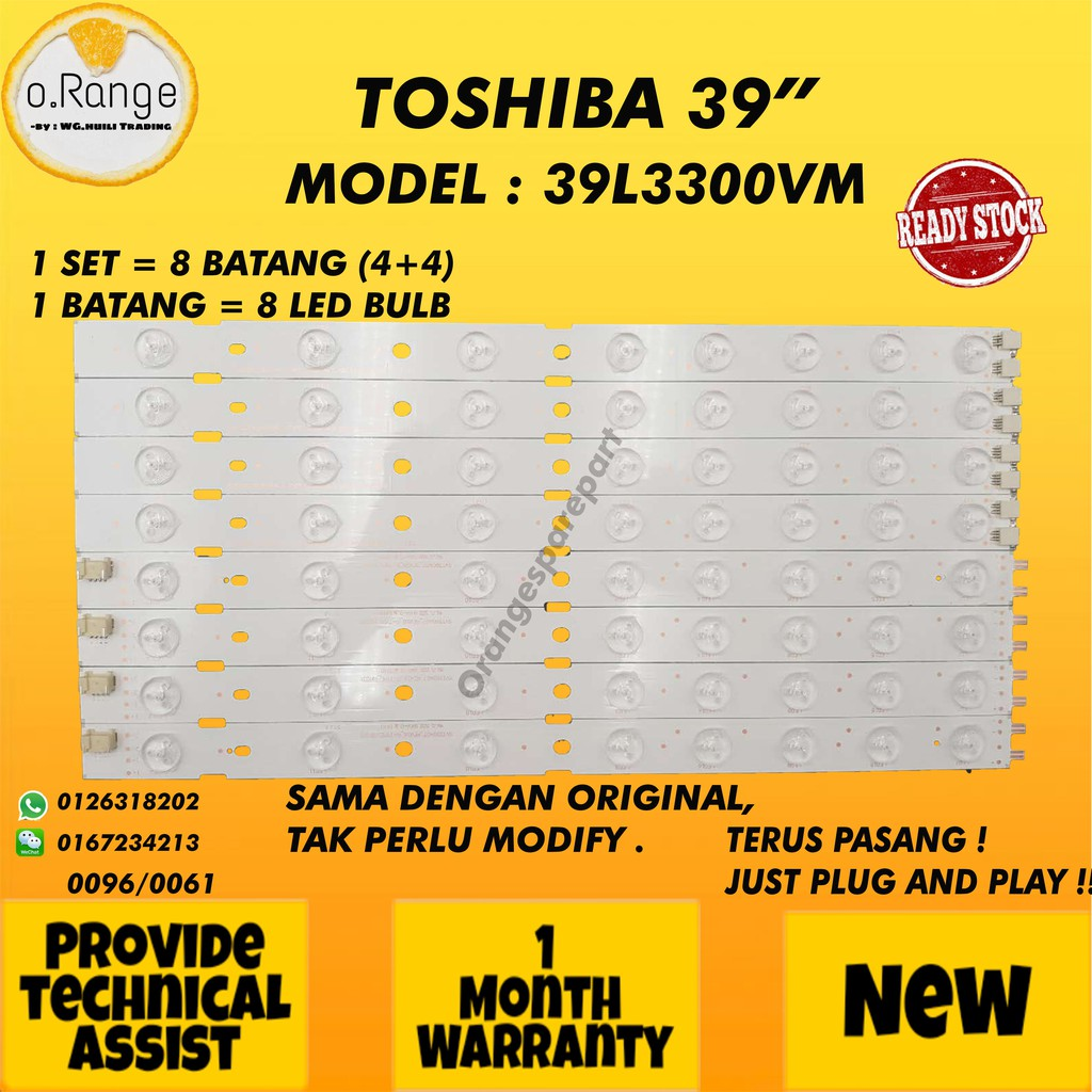 "39L3300VM TOSHIBA 39"" LED TV BACKLIGHT / LAMPU TV (READY STOCK)"