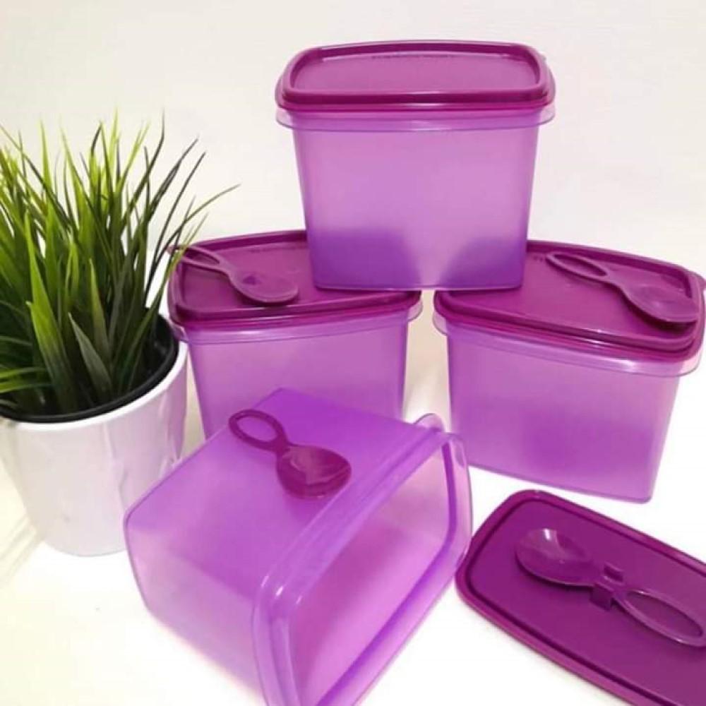 Ready Stock - Tupperware Spice Shelf Saver 840ml with spoon / Bekas Herba Purple