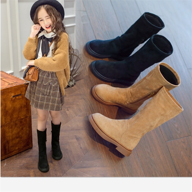 Kids Girls Over Knee High Boots Tassels Princess Boots Casual Shoes Sweet Warm