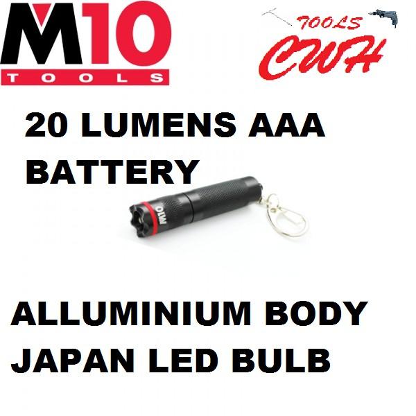014-032-065 20LUMENS AAA BATTERY M10 KEY-CHAIN ALLUMINIUM BODY FLASHLIGHT TORCHLIGHT LIGHT (LE-KEY) NICRON CWH TOOLS