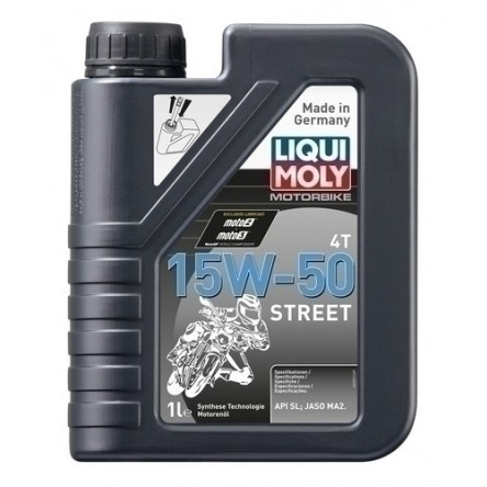 LIQUI MOLY Motorbike 4T 15W-50 STREET Engine Oil 1 Liter