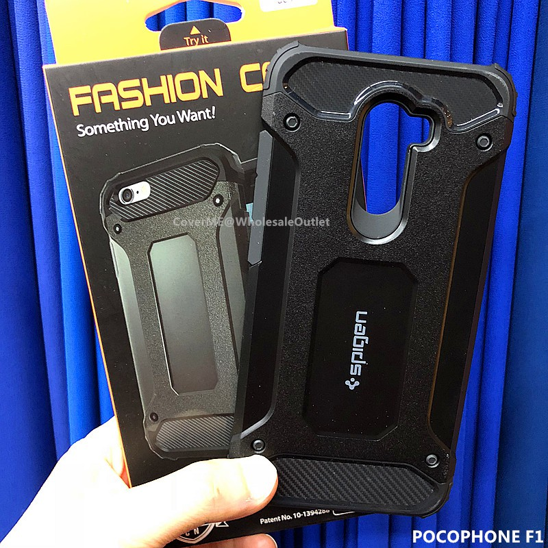cheap for discount 7ed88 bd30a Xiaomi Pocophone F1 Rugged Dual Layer Armor Case Heavy Duty Shockproof Cover