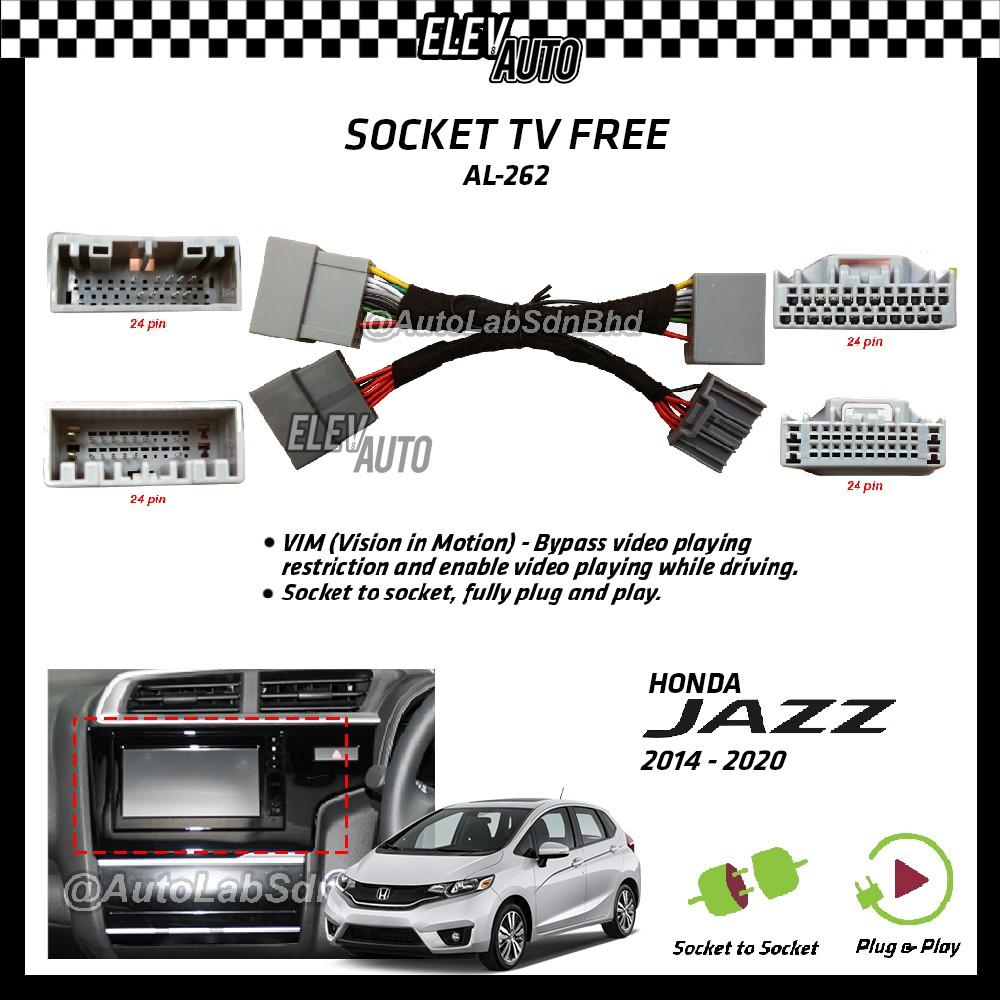 Honda Jazz 2014-2020 Socket TV Free (Bypass VIM) AL-262