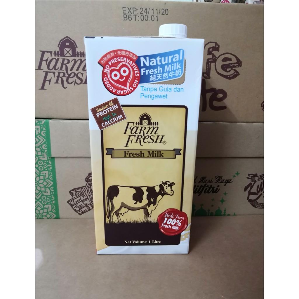 FARM FRESH SUSU SEGAR UHT Susu Segar / COKLAT 1 liter / KURMA