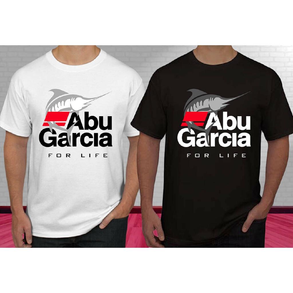 Abu Garcia For Life Fishing Logo Men/'s Long Sleeve Black T-Shirt Size S to 3XL
