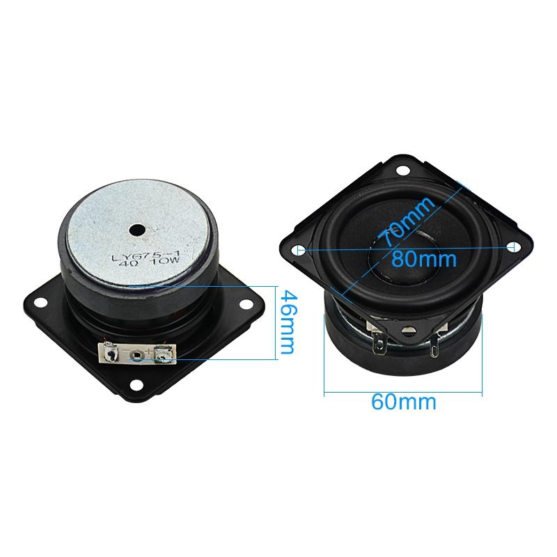 """1pcs 2.75/"""" inch 8Ohm 8Ω Full Range Audio Woofer Stereo Speaker Loudspeaker 70mm"""