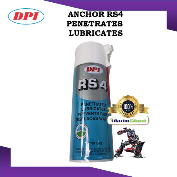 ANCHOR  NO.RS4 ANTI-RUST SPRAY MULTIPURPOSE