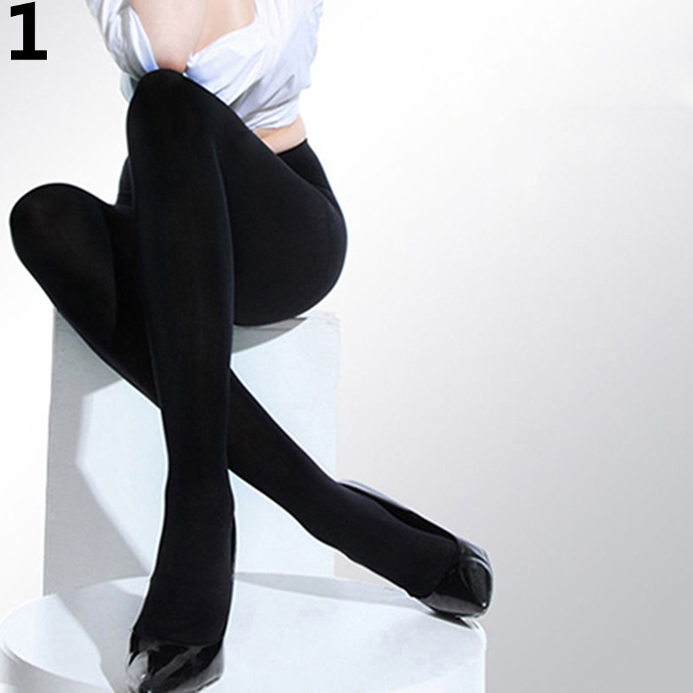 c54ba11f541 Women Opaque Foot Tights Velvet Pantyhose Stretchy Stocking