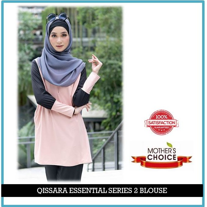ES208 - QISSARA ESSENTIAL SERIES 2 MOMMY MATERNITY AND NURSING BLOUSE