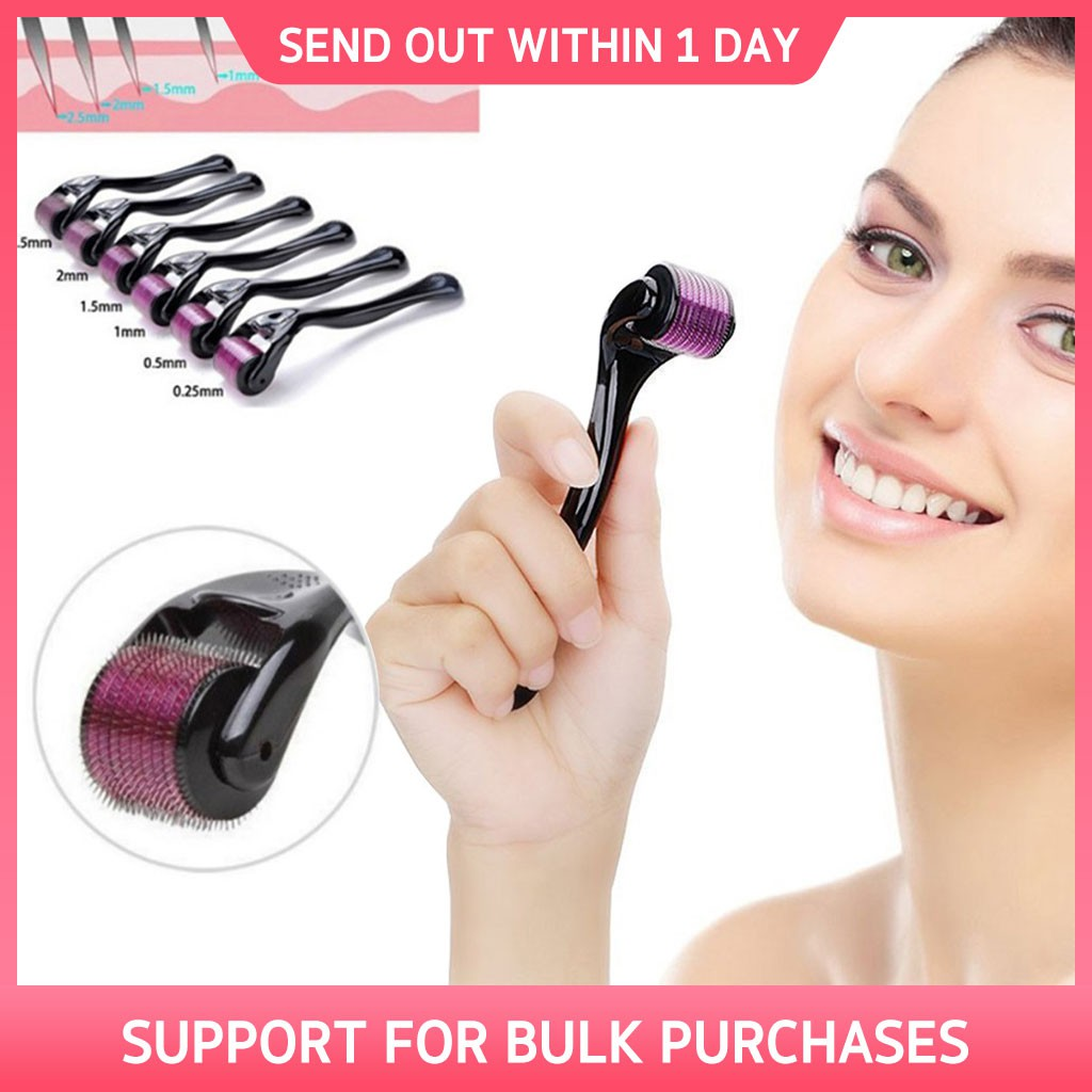 4-in-1 Skincare Alloy Micro Needle Roller Anti Aging Facial Massager | Shopee Malaysia
