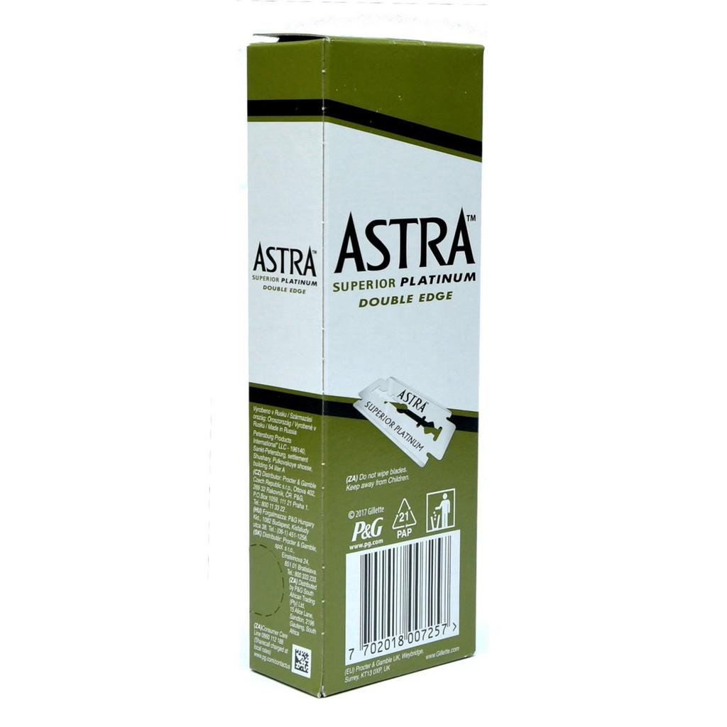 Astra Superior Platinum Double Edge Razor Blades 5Pcs