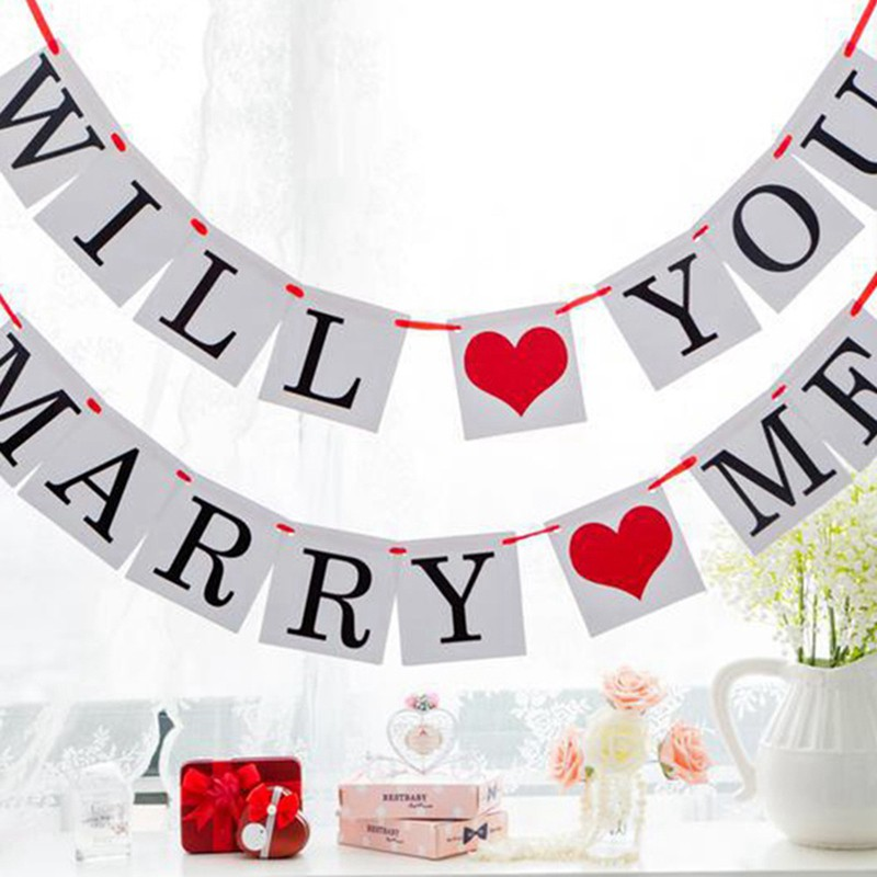 Love Wedding Banner Bunting Garland Hanging Decoration Photo Props Party Signs