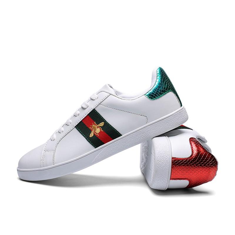 3b6bda1fa GUCCI Ace Bee White Sneakers Women Men Couple Shoes | Shopee Malaysia