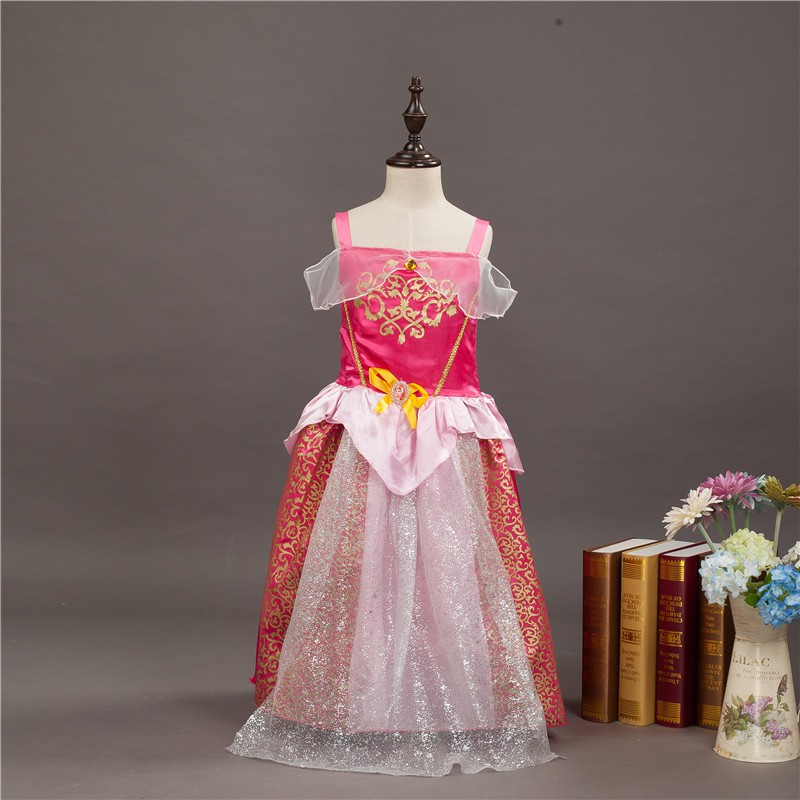 Pink Sleevesless Princess Dress
