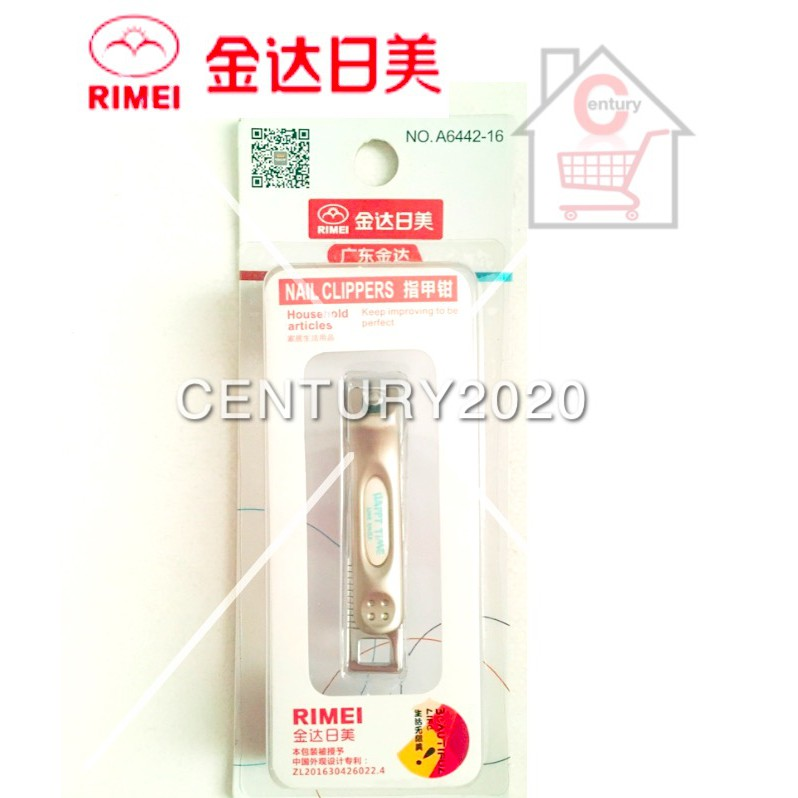 RIMEI Nail Clipper Manicure Care Nail Cutter High Grade Stainless Steel Nail Cutter A6442-16