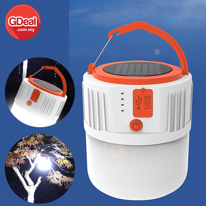 GDeal Portable Mini LED Outdoor Lamp Electric Saver Solar System Outdoor LED Bright Lamp