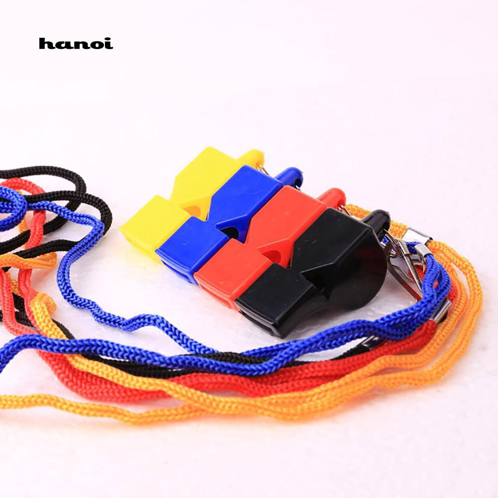 HN♥2Pcs Pro Referee Coaches Football Sports Training Outdoor Whistle with Lanyard