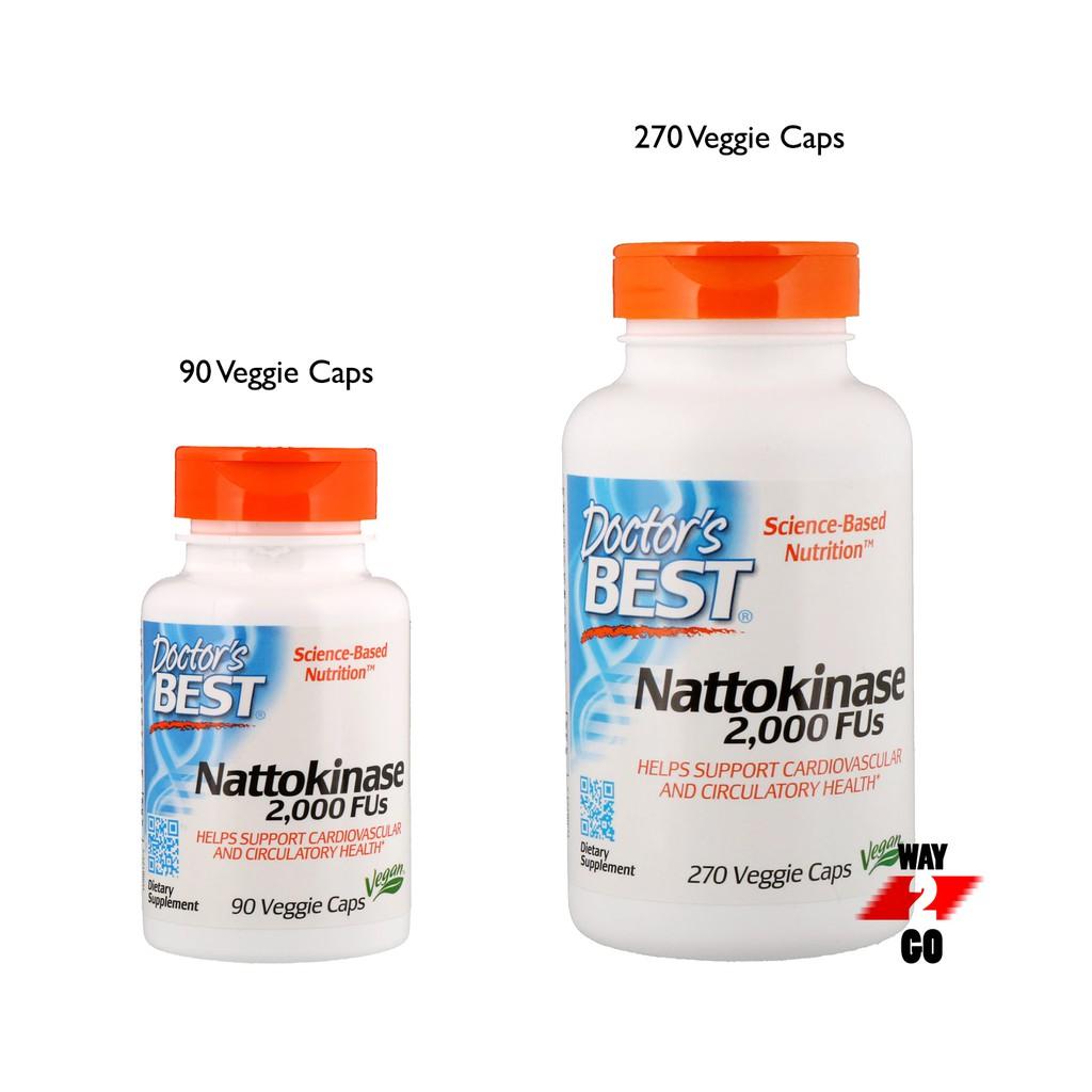✅ READY STOCK ✅ Doctor's Best, Nattokinase, 2,000 FUs, 90 or 270 Veggie Caps