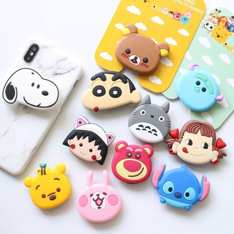 Mobile Phone Bracket Cute Cartoon Animal Pop Sockets Expanding Stand Finger  Telescopic Holder