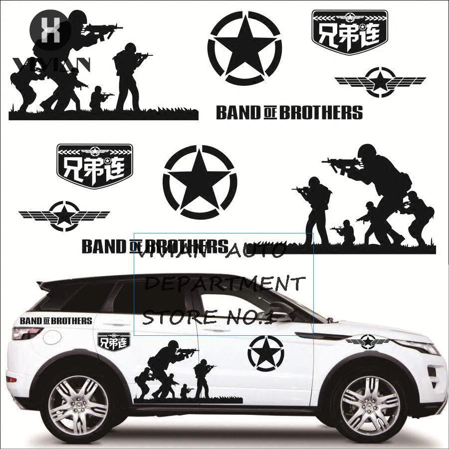 2pcs set brothers car stickers pull decals for jeep body stickers us military shopee malaysia
