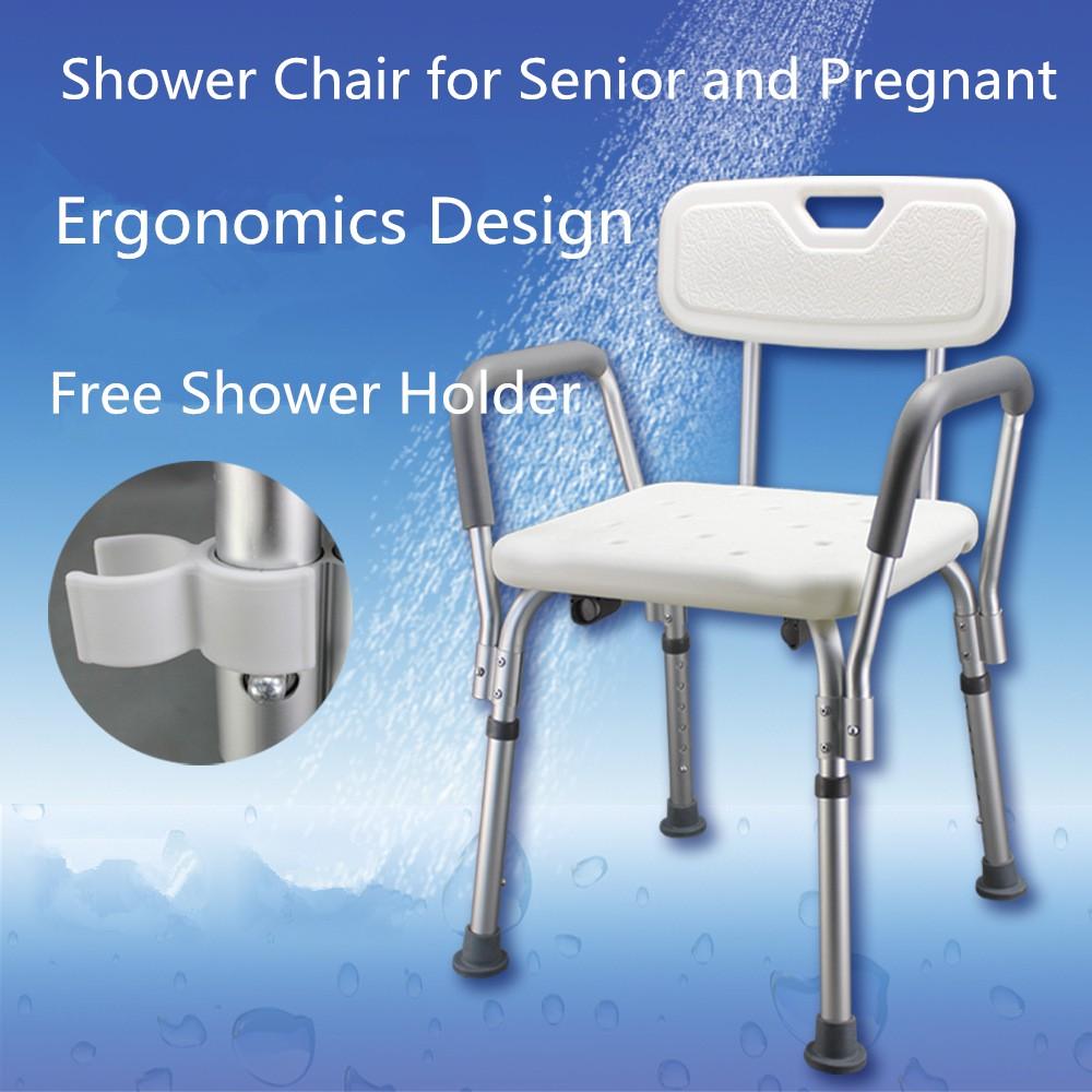 Rotary Bath Chair Shower Stool Round Swivel Lounge Toiletries ...