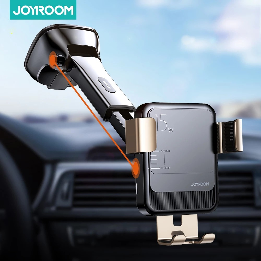 Joyroom 15w Qi Wireless Car Phone Holder charger Intelligent Infrared Fast Charger Stand Car Phone Holder for iPhone Huawei | Shopee Malaysia