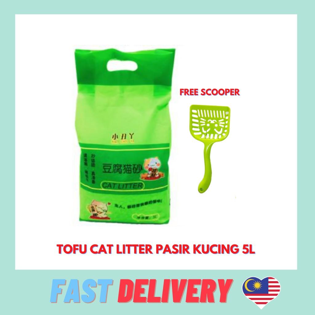 Tofu Cat Litter Pasir Kucing 5L Original flavour