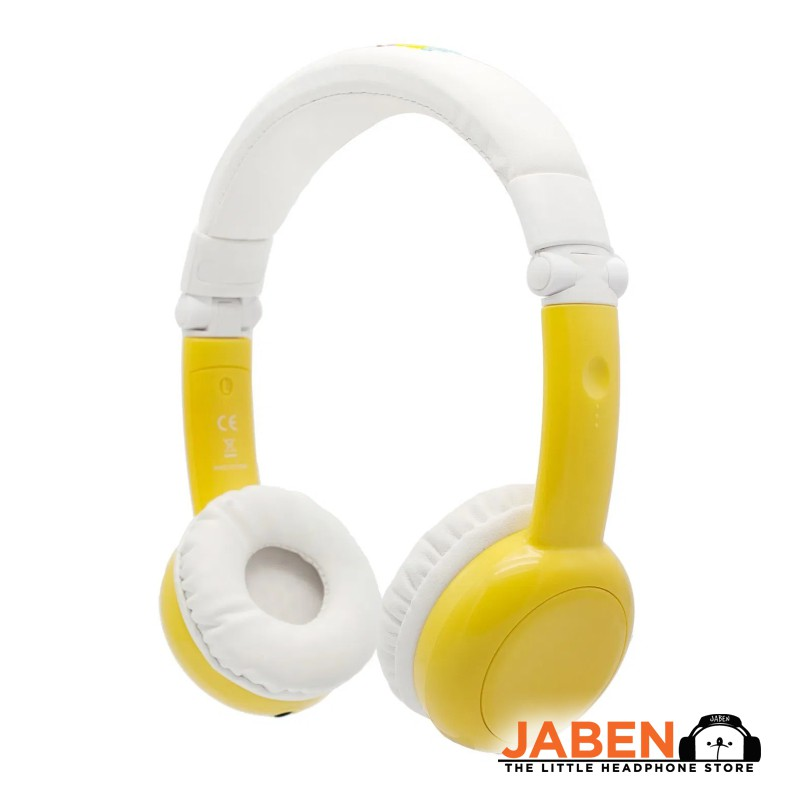 BAMiNi Healthy Safe Listening Online Class Audio Sharing In-line Mic Foldable Kids Closed-Back On-Ear Headphones [Jaben