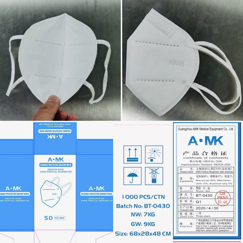 KN95 Mask - Without Valved Face Mask KN-95 Protection Face Mask.