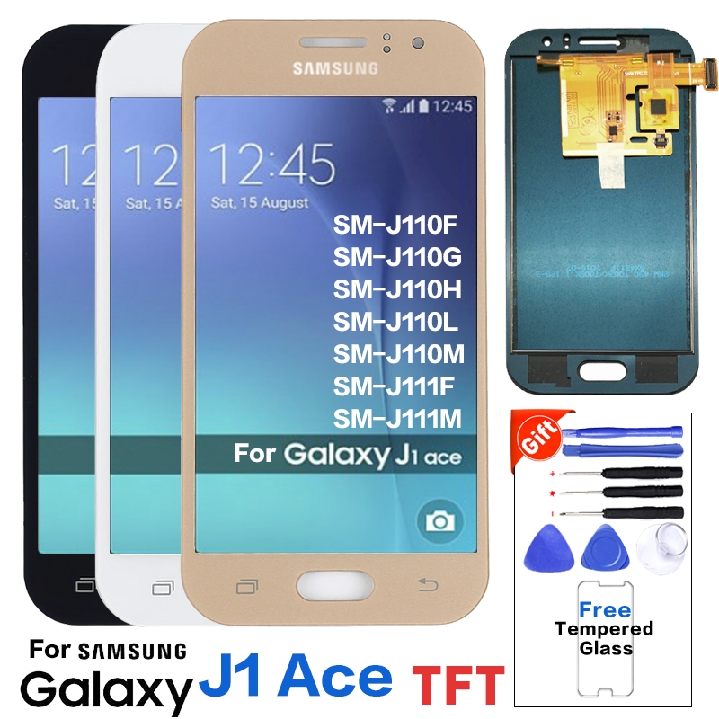 brightness adjust For Samsung Galaxy J1 Ace J110 J111 J111F SM-J110F J110H  LCD Display +Touch Screen Digitizer Assembly