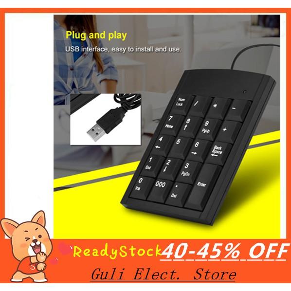 【Ready Stock】USB Portable Mini Keyboard Number for Laptop Numeric Mini  Keypad