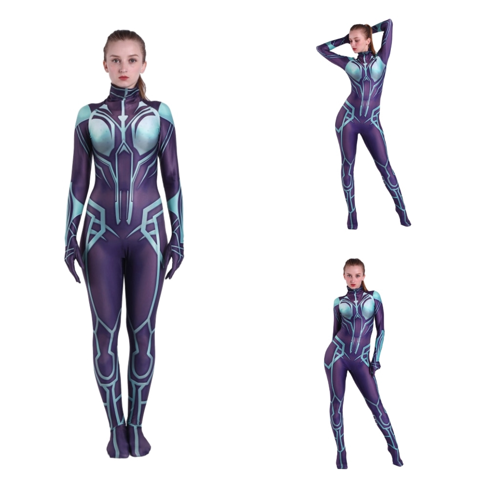 Lady All Might Cosplay Costume Spandex 3D Print Zentai Bodysuit Halloween Suit