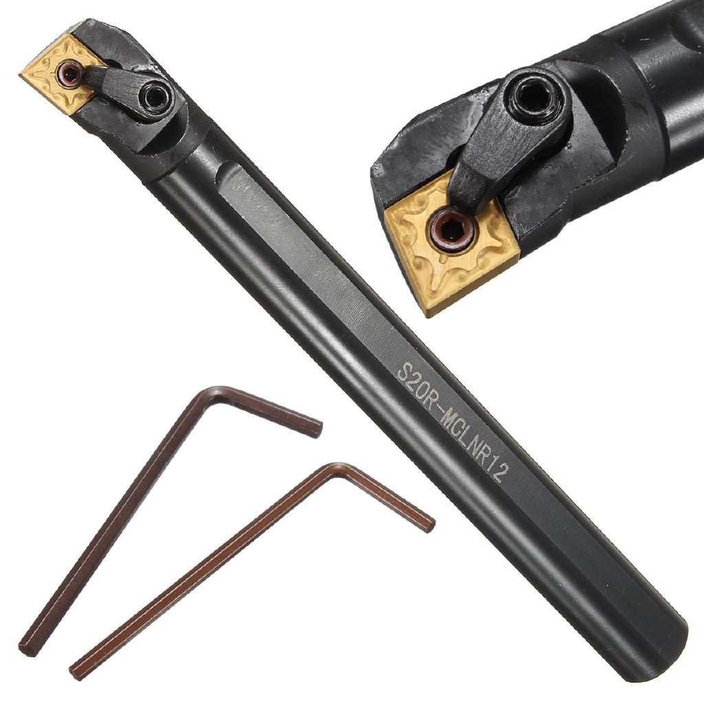 CNMG1204 Blade Insert+Wrench S20R-MCLNR12 Boring Bar Holder Lathe Turning Tool